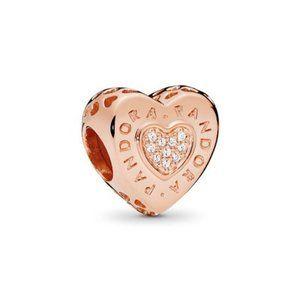 ❤️Pandora Rose Logo Heart Charm